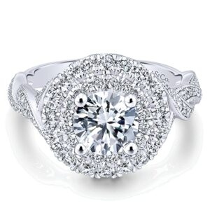 ER12800R4W44JJ 14K Halo Engagement Ring
