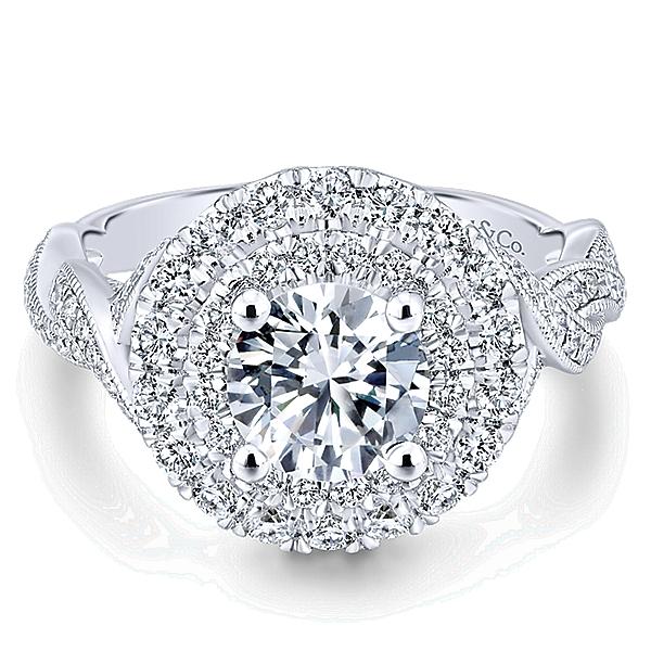 ER12800R4W44JJ 14K Halo Engagement Ring