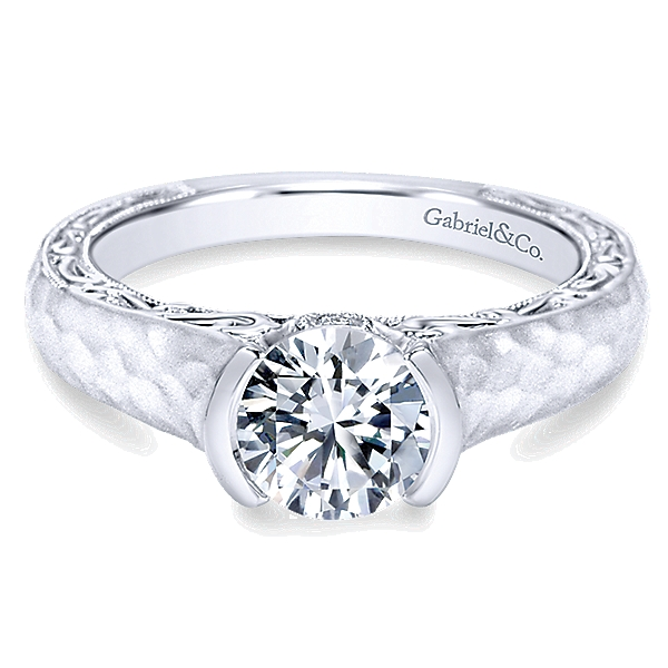 14k-White-Gold-Diamond-Filgree-Solitaire-Engagement-Ring-with-Hammered-Shank-ER9058W44JJ-1