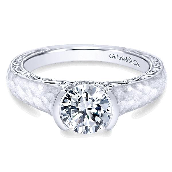 14k-White-Gold-Diamond-Filgree-Solitaire-Engagement-Ring-with-Hammered-Shank-ER9058W44JJ-1