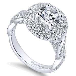 14K White Gold Diamond Engagement Ring ER12800R4W44JJ