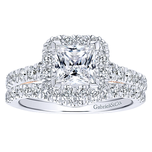 14k White Gold Engagement Sets ER12836S4T44JJ