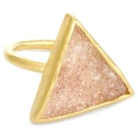Trio Sand Druzy Vermeil Ring