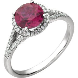 Ruby Color Stone Ring
