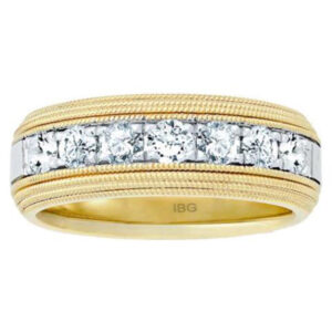 14k Yellow/White Gold 1.05ct TW Men's Diamond Ring