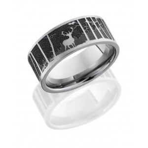 Elk Mountain Satin Polished Men's Ring