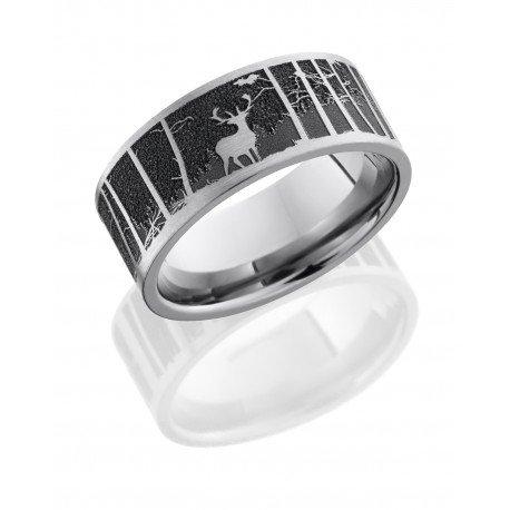 Elk Mountain Satin Polished Men's Ring