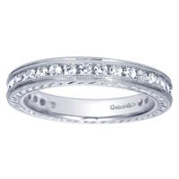 14k White Gold Woman's Diamond Wedding Band