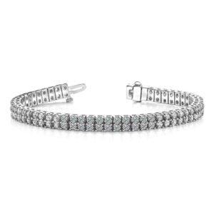B136 14k White Gold Ladies Diamond Bracelet