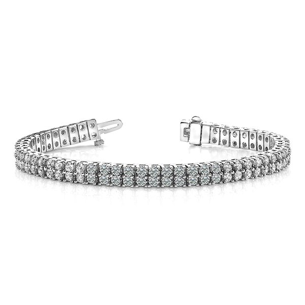 B136 14k White Gold Ladies Diamond Bracelet