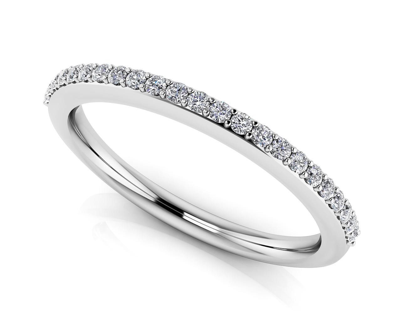 14k White Gold Woman's Diamond 1/4ct TW Wedding Band