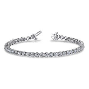 14k White Gold Ladies Diamond Bracelet