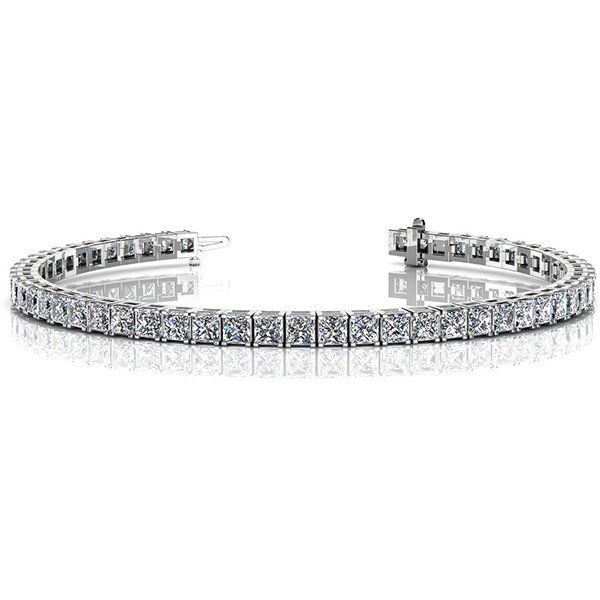 This beautiful 14k White Gold Princess Cut Diamond Dreams Bracelet will be the one you buy and keep forever.