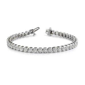 14k White Gold 2.50ct Ladies Diamond Tennis Bracelet