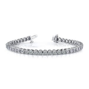 14k White Gold Ladies Diamond Bracelet