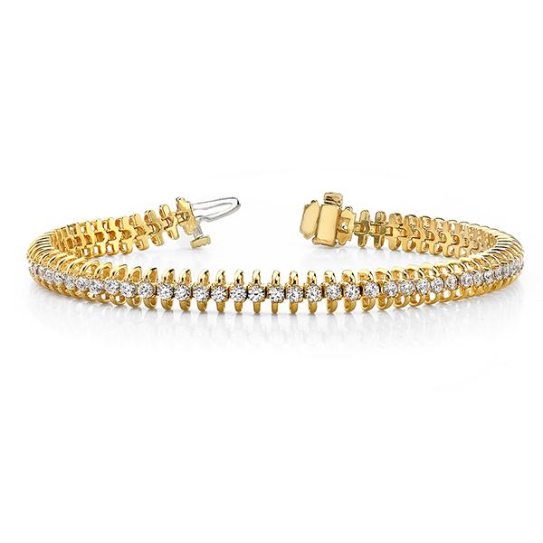 SB940 14k Yellow Gold Diamond Bracelet