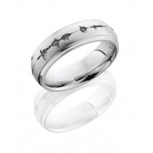 Sound Wave Angle with Satin Polish Men's Ring