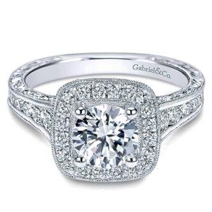 Gabriel-14k-White-Gold-Diamond-Halo-Channel-and-Milgrain-Engagement-Ring-ER8794W44JJ-1