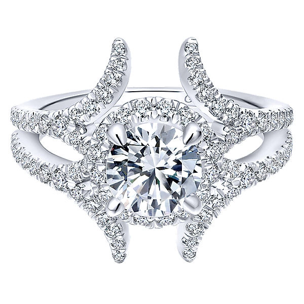 14k White Gold Nova Engagement Ring