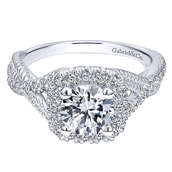 14k White Gold Riata Engagement Ring