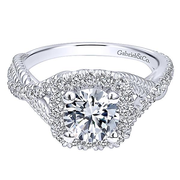 14k White Gold Riata Engagement Ring