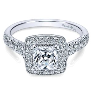 Gabriel-14k-White-Gold-Pave-Shank-and-Princess-Cut-Diamond-Halo-Engagement-Ring-ER10907W44JJ-1