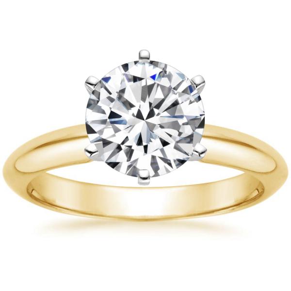 1CT Round Diamond Soliaire