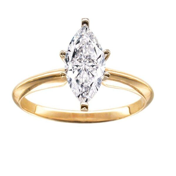 Stunning 1/2CT Marquise Solitaire